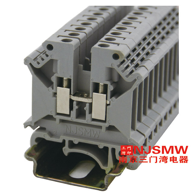 普通接线端子系列wuk  wuk5n 端子尺寸:厚/宽/高/挡板厚度 6.